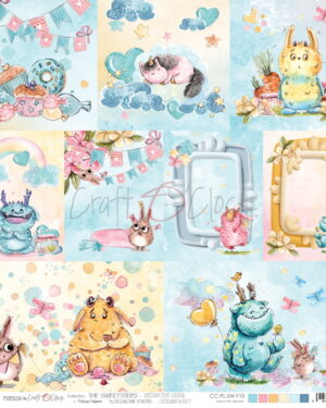 Craft o Clock THE SWEETSTERS – A SHEET WITH DECORATIVE CARDS