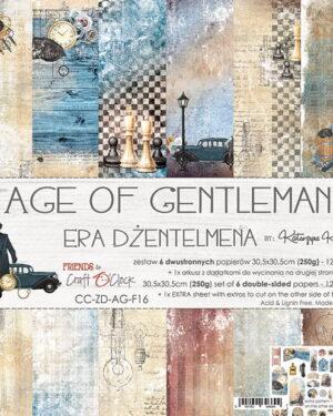 Craft O' Clock –  Age of Gentleman – Paperpad 30.5 x 30.5 cm