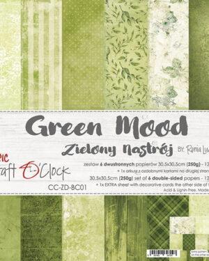Craft O' Clock – Green Mood – Paperpad 30.5 x 30.5 cm