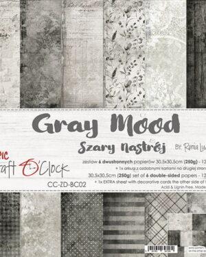 Craft O' Clock – Gray Mood – Paperpad 30.5 x 30.5 cm