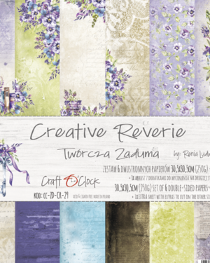 Craft O' Clock –  Creative Reverie – Paperpad 30.5 x 30.5 cm