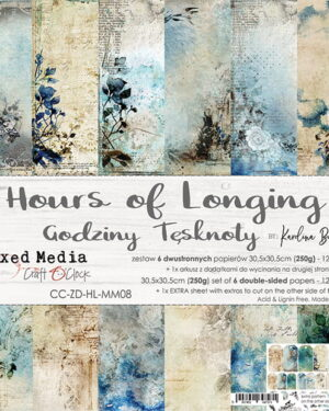 Craft O' Clock –  Hours of Longing – Paperpad 30.5 x 30.5 cm