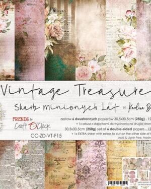 Craft O' Clock –  Vintage Treasure – Paperpad 30.5 x 30.5 cm