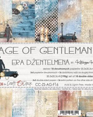 Craft O' Clock – Age of Gentleman – Paperpad 20.3 x 20.3 cm