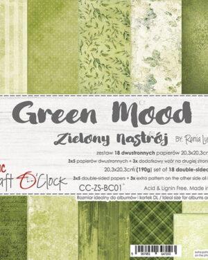 Craft O' Clock – Green Mood – Paperpad 20.3 x 20.3 cm