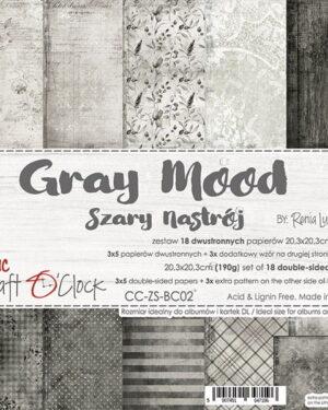 Craft O' Clock – Gray Mood – Paperpad 20.3 x 20.3 cm