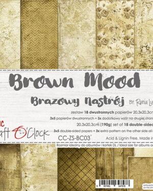 Craft O' Clock – Brown Mood – Paperpad 20.3 x 20.3 cm