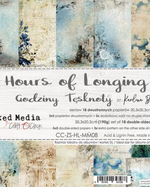 Craft O' Clock – Hours of Longing – Paperpad 20.3 x 20.3 cm