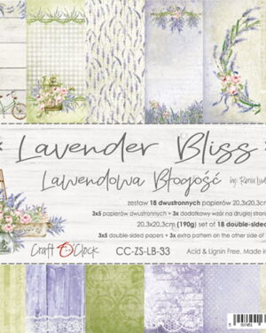 LAVENDER BLISS – A SET OF PAPERS 20,3X20,3CM