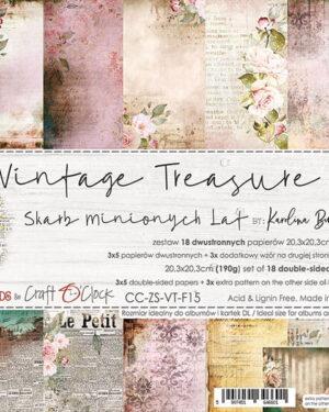 Craft O' Clock – Vintage Treasure – Paperpad 20.3 x 20.3 cm