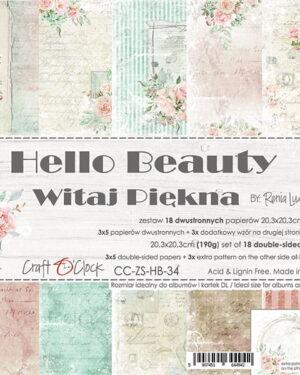 Craft O' Clock – Hello Beauty – Paperpad 20.3 x 20.3 cm