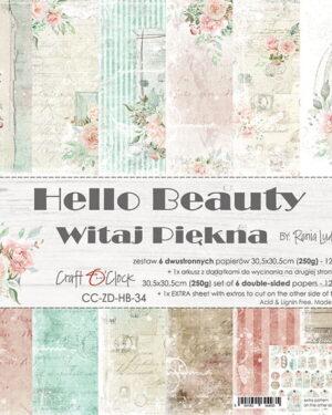 Craft O' Clock –  Hello Beauty – Paperpad 30.5 x 30.5 cm