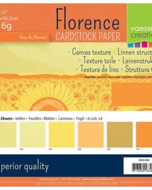 Florence • Cardstock multipack 30,5×30,5cm Geel