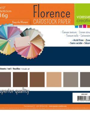 Florence • Cardstock multipack 30,5×30,5cm Bruin