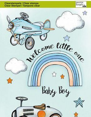CraftEmotions clearstamps A6 – Babyboy