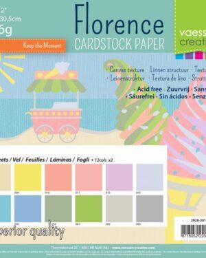 Florence • Cardstock multipack 30,5×30,5cm Pastel