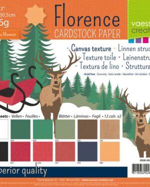 Florence • Cardstock multipack 30,5×30,5cm Kerst