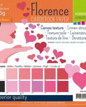 Florence • Cardstock multipack 30,5×30,5cm Valentijn