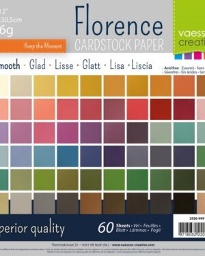 Florence • Cardstock smooth multipack 30,5×30,5cm Assorti