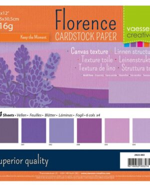 Florence • Cardstock multipack 30,5×30,5cm Paars
