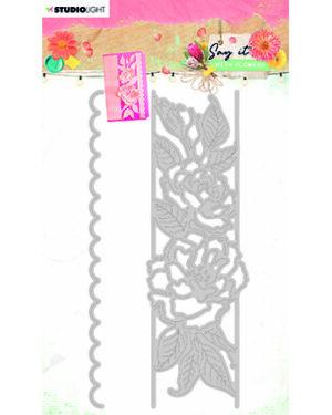 SL Cutting & Emb. Die Say it with flowers 77x152mm nr.401