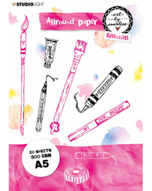 BM Allround Paper pad Watercolor 300 gr Essentials 148x210mm nr.2