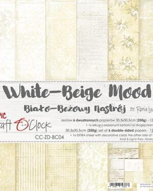 Craft O' Clock – White Beige – Paperpad 30.5 x 30.5 cm