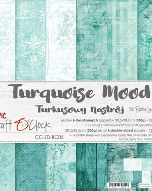 Craft O' Clock – Turquoise – Paperpad 30.5 x 30.5 cm