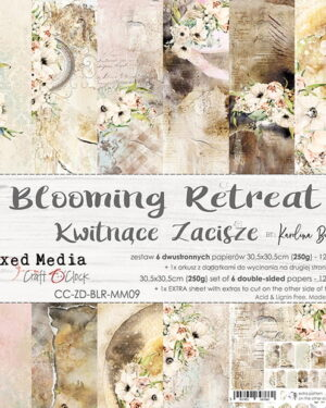 Craft O' Clock –  Blooming Retreat – Paperpad 30.5 x 30.5 cm