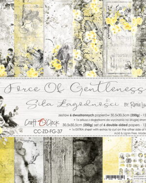 Craft O' Clock –  Force of Gentleness – Paperpad 30.5 x 30.5 cm