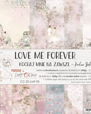 LOVE ME FOREVER – A SET OF PAPERS 30,5X30,5CM