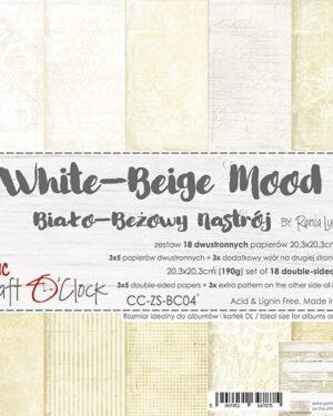 Craft O' Clock – White Beige – Paperpad 20.3 x 20.3 cm