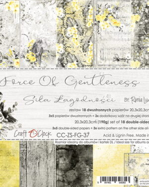 Craft O' Clock – Force of Gentleness – Paperpad 20.3 x 20.3 cm