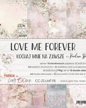 LOVE ME FOREVER – A SET OF PAPERS 20,3X20,3CM