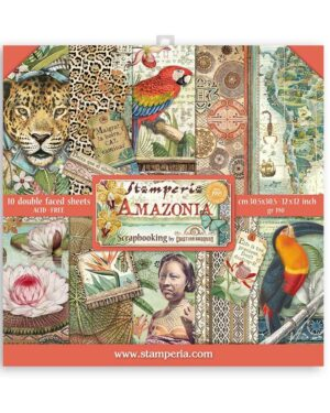 Stamperia Amazonia 12×12 Inch Paper Pack (SBBL83)