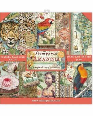 Stamperia Amazonia 8×8 Inch Paper Pack (SBBS28)