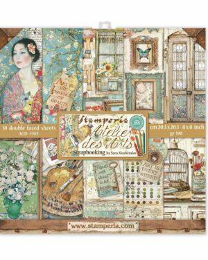 Stamperia Atelier des Arts 8×8 Inch Paper Pack (SBBS33)