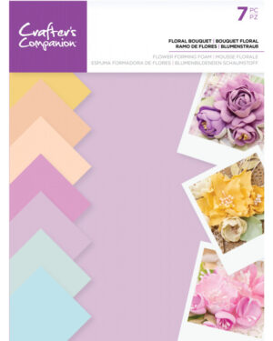 Crafter's Companion Floral Foam – Bloemen pastel kleuren