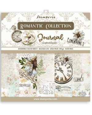 Stamperia Romantic Journal 12×12 Inch Paper Pack (SBBL86)