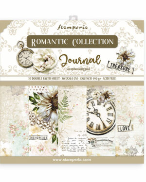 Stamperia Romantic Journal 8×8 Inch Paper Pack (SBBS34)