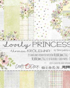 Craft O' Clock – Lovely princess – Paperpad 20.3 x 20.3 cm
