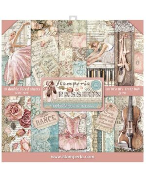 Stamperia Passion 12×12 Inch Paper Pack (SBBL84)