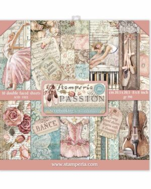 Stamperia Passion 8×8 Inch Paper Pack (SBBS29)