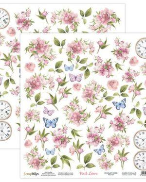 ScrapBoys First Love paper sheet DZ FILO-07 190gr 30,5×30,5cm