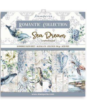 Stamperia Romantic Sea Dream 12×12 Inch Paper Pack (SBBL87)