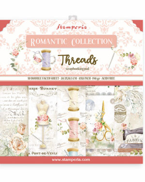 Stamperia Romantic Threads 8×8 Inch Paper Pack (SBBS36)