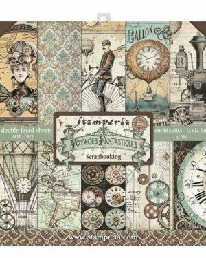 Stamperia Voyages Fantastiques 12×12 Inch Paper Pack
