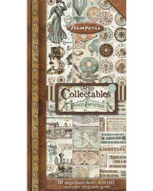 Stamperia Voyages Fantastiques 6×12 Inch Paper Pack