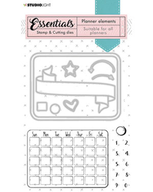 SL-PES-SCD01 – SL Stamp & Cutting Die Monthly calendar Planner Essentials nr.01