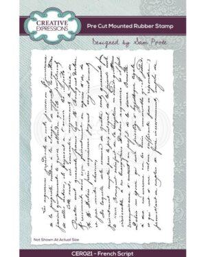 Creative Expressions • Clear pre cut rubber stamp set Frans script